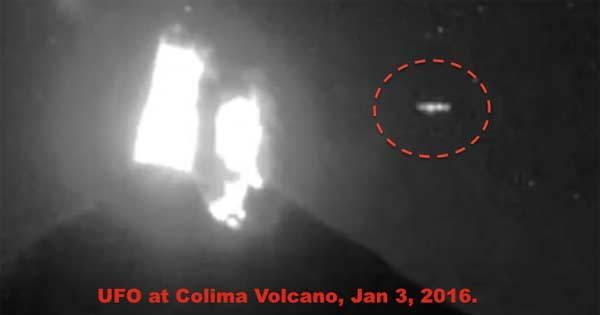 Un OVNI provoque une explosion au sommet du Volcan Colima
