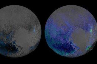Pluton est à moitié couverte de glace d'eau !