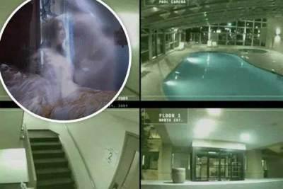 Un fantôme filmé par des caméras de surveillance
