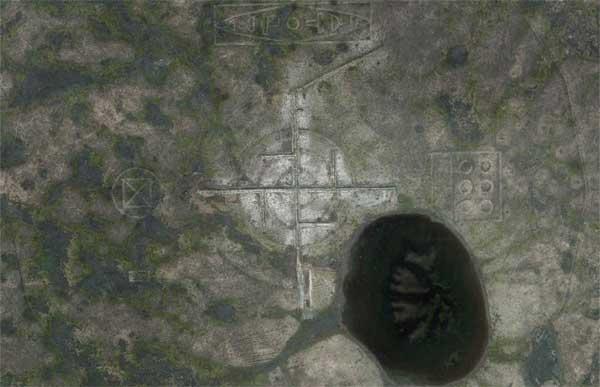 Une gigantesque Svastika repéré dans le désert près de la Zone 51