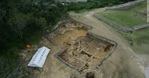 D'anciennes pièces romaines trouvées dans les ruines d'un château japonais