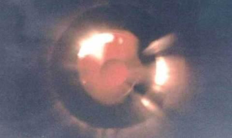 Le dessous d'une soucoupe volante photographié en Écosse