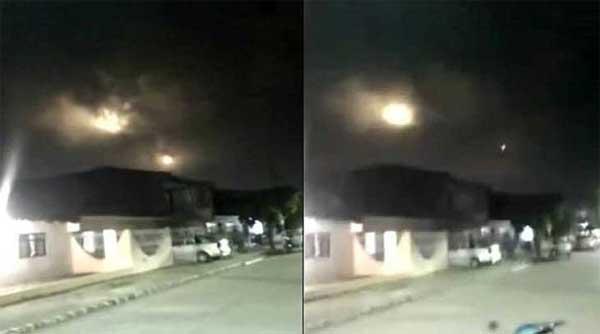 Colombie : Les habitants effrayés par d'étranges lumières dans le ciel