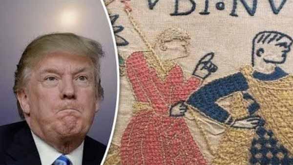 Vidéo: Donald Trump a-t-il été découvert dans la Tapisserie de Bayeux ? Voyage dans le Temps ?
