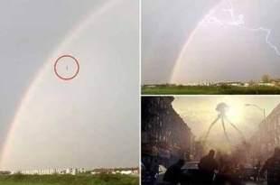 "Vidéo: Des extraterrestres filmés en train de ""plonger"" dans la terre lors d'un orage"