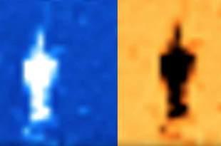 Un OVNI s'est déplacé devant le soleil, suivi par des petits vaisseaux