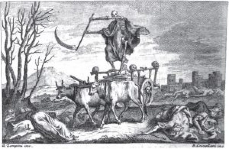 Illustration of Petrarch's Triumph of Death