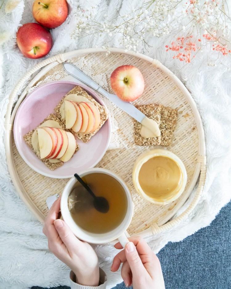 maapähkinävoi-omena
