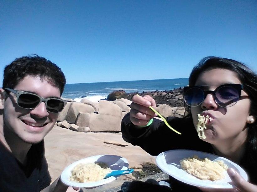 Almoçar em Cabo Polônio