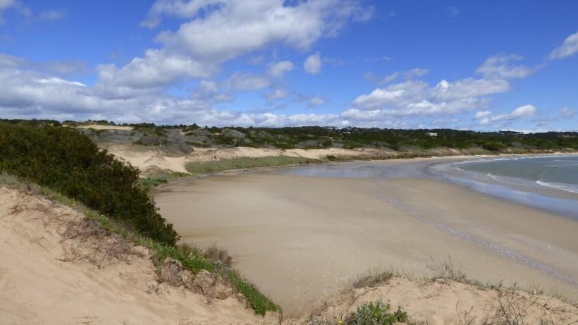 Playa grande em Punta del Diablo