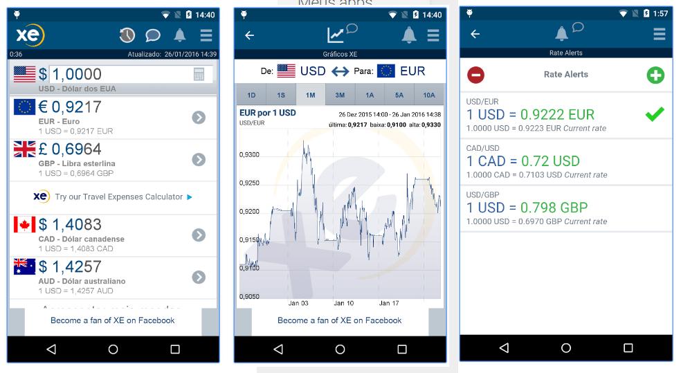 Melhores aplicativos de viagem XE Currency