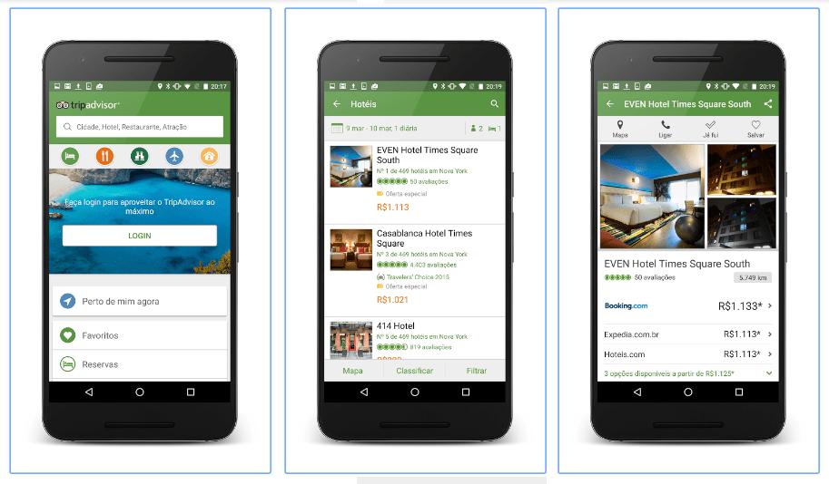 Melhores aplicativos de viagem tripadvisor