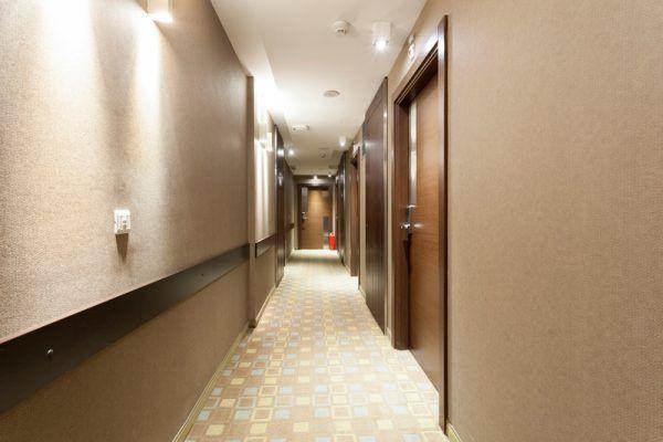 Corridor in apartment building