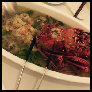 Lobster in Spa Yin Yang Private Kitchen Hong Kong