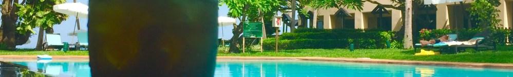 Dusit Thani Salt Water Pool & refreshments. Hua Hin Thailand