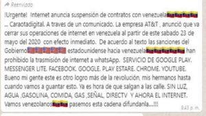 internet se va de venezuela
