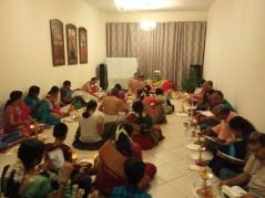 Our velluku pooja taking place at a devotees house.