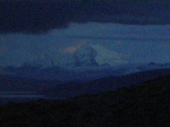 The formation of the face of Sri Krishna in the skies near Mt. Kailash.