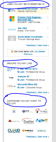 recommendation systems Linkedin Groups Jobs Companies