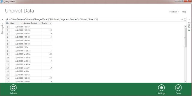 data explorer unpivot excel 4