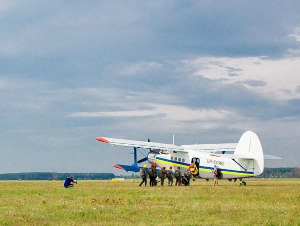 Прыжки с парашютом в Киеве на аэродроме Бородянка - ПАРА-СКУФ