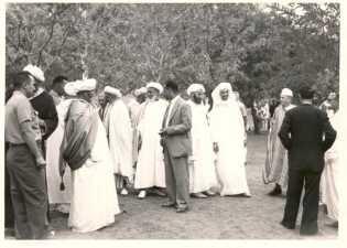 Fêtes officielles à El Ksiba le 14 juillet - Notables berbères et arabes d'El Ksiba.