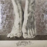 Valentina Baggi (classe 1994 - Accademia di Belle Arti di Urbino), A piedi nudi nell'arte, 2015, tecnica mista, 200x200, 2015