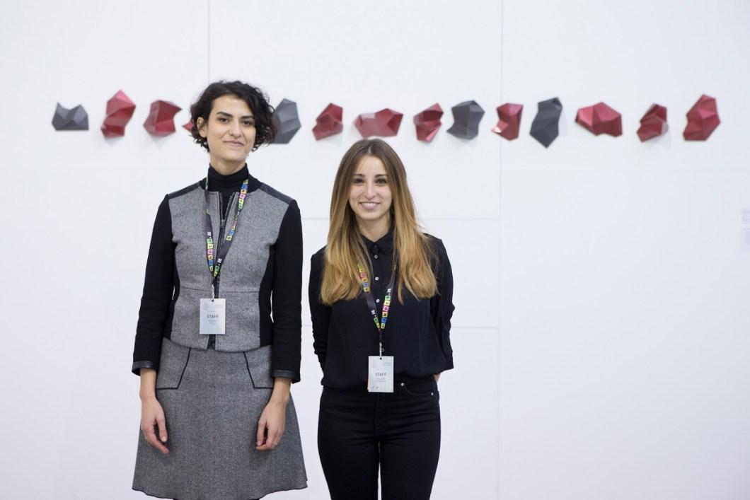 Le curatrici Valeria Serafini e Eloisa Tolu
