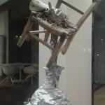 GERARDO ROSATO_52_01, scultura legno e alluminio, 2010, h100x40, L