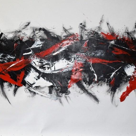 Tracce -dim cm 100x200-acrilico - 2017