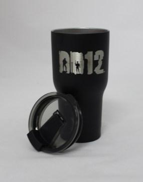 20 oz DD12 Black lid off