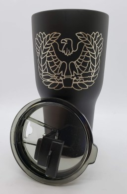 Chief Warrant Office 30oz RTIC tumbler lid off