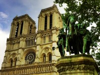 Notre Dame and the Charlemagne Statue