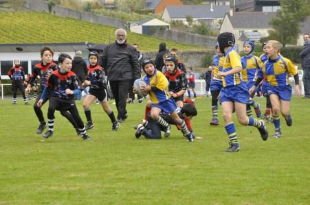 Match à Montjean-sur-Loire école de rugby