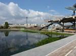 Plage du bassin et accès au belvédère