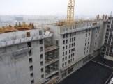 Arrière de Parc 17 depuis le haut de l'hôtel Ibis, direction Sud-Ouest, 14 décembre 14