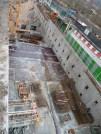 Préparation du coulage de 2 blocs supplémentaires de dalle au 2° niveau.