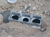 Installation du séparateur à hydrocarbure