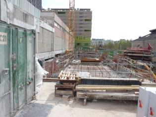 Vue du chantier d'Ouest en Est