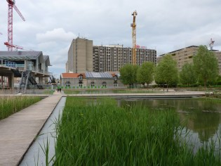 Vue du futur Parc 17 depuis les bassins du Parc Martin Luther King