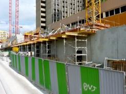 Progression de la construction des balcons du 1er étage de Parc 17