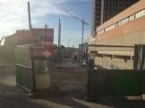 La préparation du chantier devant Parc 17