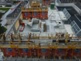 Parc 17, bâtiment C, début de construction des murs du 6° étage, 10 octobre 2014