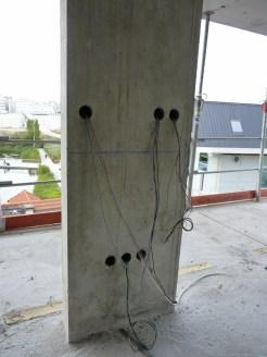 Sorties de câbles dans un appartement