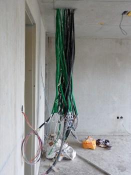 Arrivées des câbles