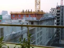 Vue de l'arrière de l'immeuble à l'horizontale du 9° étage