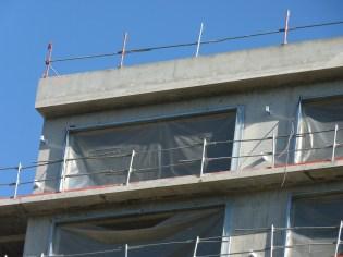Pattes de fixation du bardage, 11° étage