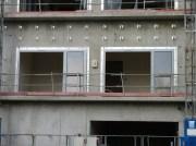 Pose des portes-fenêtres, bâtiment B