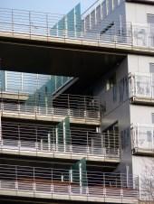 Pare-vues, terrasses entre les Bât. B & C, façade Sud