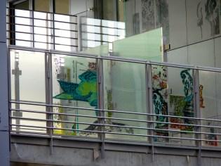 Pare-vues, terrasses entre les Bât. B & C, façade Nord